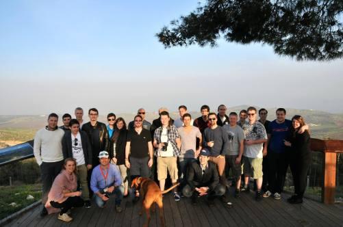 Mit der Reisegruppe in Israel (Golanhöhen)