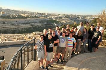 Mit der Reisegruppe in Israel (Jerusalem)